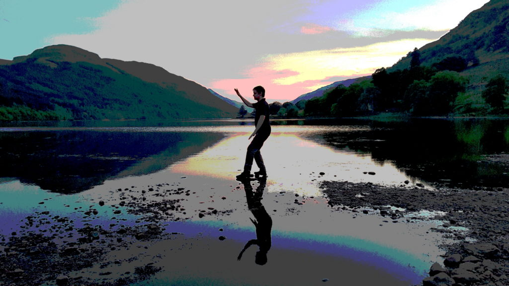 Alan Skirving practising Tai Chi at Loch Voil